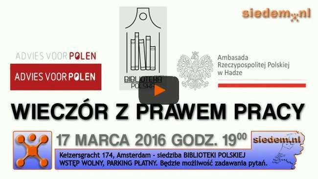 Prawo Pracy w Holandii 2016 - Zaproszenie