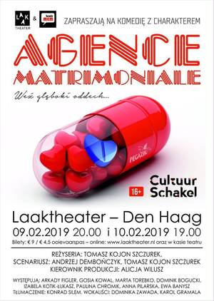 AGENCE MATRIMONIALE - sztuka komediowa w Laaktheater, Den Haag - Holandia