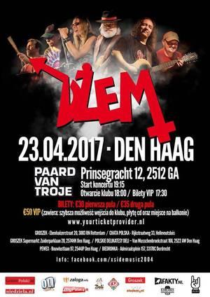 Koncert legendarnego zespołu DŻEM w Holandii, Haga - zaproszenie