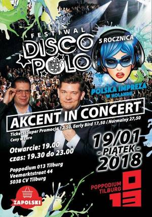 Akcent In Concert - Tilburg, Holandia - Festiwal DISCO POLO