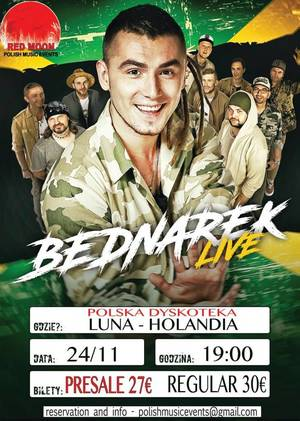 Bednarek LIVE w Holandii - Luna 11.2017