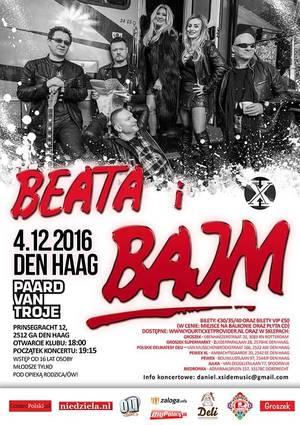Koncert BAJM w Holandii - Haga 4.12.2016 - zaproszenie