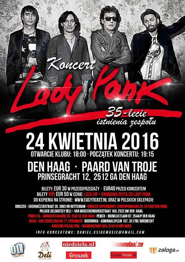 Koncert zespołu Lady Pank w Holandii- zaproszenie