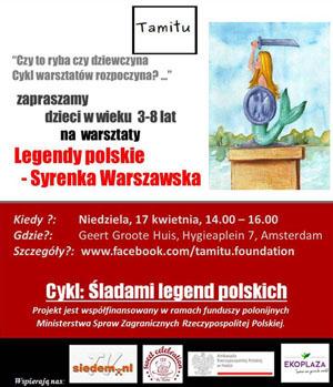 Śladami legend polskich - Warszawska Syrenka - Fundacja Tamitu - zaproszenie