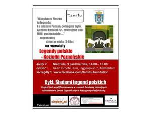 Śladami legend polskich - Koziołki Poznańskie - fundacja TAMiTU Amsterdam, Holandia - zaproszenie