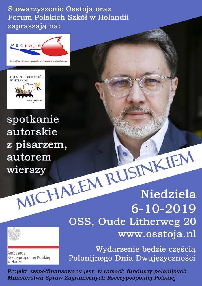 Michał Rusinek - spotkanie autorskie 06.10.2019 Oss, Holandia