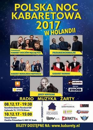 Polska Noc Kabaretowa 2017 w Holandii - Breda