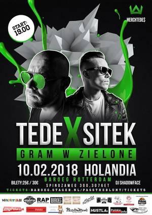 Tede oraz Sitek - Gram z Zielone - Holandia, Rottedam 2018