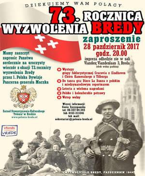 Program obchodów 73 rocznicy wyzwolenia Bredy 28-29.10.2017