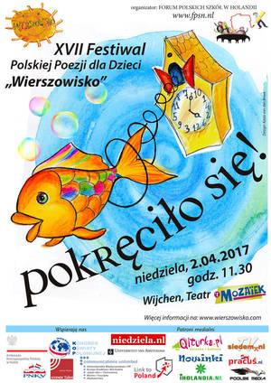 XVII Festiwal Poezji dla DzieciWierszowisko, Holandia Wijchen - zaproszenie