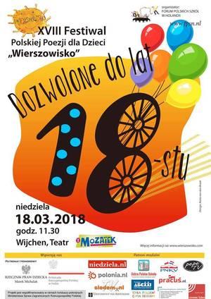 WIERSZOWISKO - XVIII Festiwal Polskiej Poezji dla Dzieci - DOZWOLONE DO LAT 18 - Wijchen, Holandia